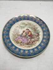 Antique Limoges Plate with a Court scene.