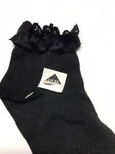 Girls -Ladies Lace Frill Trainer Socks