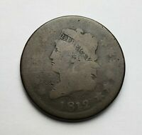 1812 Classic Head Large Cent S-288 Good