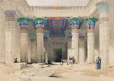 "David Roberts : ""Grand Portico of the Temple of Philae"" — Giclee Fine Art Print"