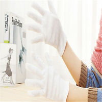 White Inspection Cotton Lisle Work Gloves Coin Jewelry Lightweight One Size