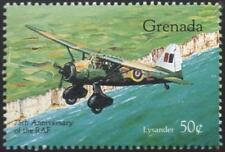 WWII WESTLAND LYSANDER Aircraft Stamp (RAF 75th Anniversary / 1993 Grenada)