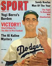 1964 (Feb.) Sport Magazine, Baseball, Sandy Koufax, Los Angeles Dodgers ~ FrNL