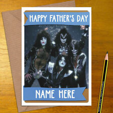 KISS Personalised Mother's / Father's Day Card - mum dad mothers fathers