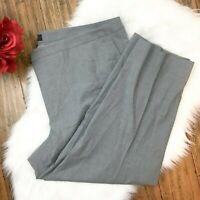 Talbots Woman Women's Gray Wool Blend Dress Career Work Pants Size 24W
