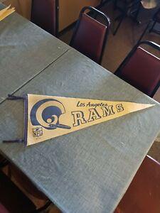 Vintage 1967 NFL Los Angeles Rams Single-bar Helmet Pennant