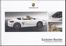 brochure 2013 PORSCHE BOXSTER EXCLUSIVE  !!! ___ en français ___________________