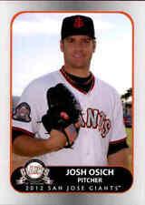 2012 San Jose Giants Grandstand #21 Josh Osich Boise Idaho ID Baseball Card