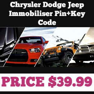 Immobiliser pin key code Chrysler Dodge Jeep
