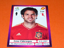 298 CESC FABREGAS BARCELONA ESPAGNE ESPAÑA  FOOTBALL PANINI UEFA EURO 2012