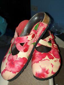 Women's Birki's Birkenstock Tropical Hibiscus Shoes Size 36