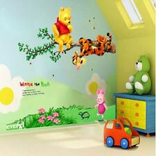 Cartoon Winnie the Pooh Branched Wall Sticker Decals Mural for Kids Room Decors