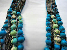 CHAN LUU Necklace Long Chains Beads Silk Prints Artisinal Hand Made  NWT