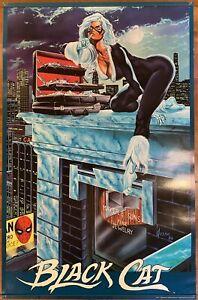 """1986 Black Cat Vintage Poster 22"""" x 34"""" Marvel Comics - Excellent Condition!"""