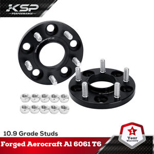 2PC 15mm 5x4.5 114.3MM 12X1.25 Wheel Spacers Hubcentric  Forged Fit Infiniti 350