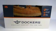 Men's DARK TAN Dockers Slippers With Memory Foam, Indoor/Outdoor XXL SIZE(13)