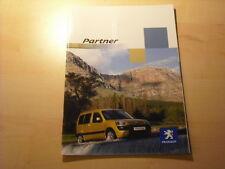 50705) Peugeot Partner Prospekt 11/2002