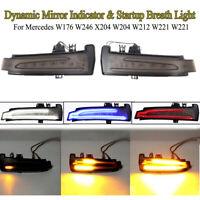 2x Dynamische LED Spiegel Blinker Außenspiegel Atemlicht Für Mercedes W204