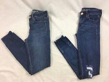 Blue Jeans American Eagle Womens 2 Reg Hi-Rise Jegging Super Stretch Lot of 2