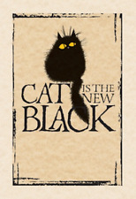 MAD OLD CAT LADY GREETING CARD: CAT IS THE NEW BLACK - NEW IN CELLO