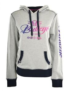 Bullzye Ladies Wild & Free Pull Over Hoodie- Charcoal/Black - Sizes 8 to 20