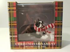 Sandicast Boston Terrier Hand Painted Dog Figurine 4.5 Inches Ornament