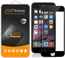 2X Supershieldz iPhone 6/ 6S  Full Cover Tempered Glass Screen Protector (Black)