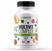 Multivitamins & Minerals - 30 Essential Vitamins & Minerals - Vegan Tablets UK