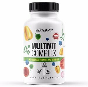 Multi Vitamins & Minerals A-Z Tablets 100% RDA - Full Years Supply - One A Day