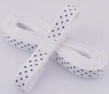 "White 5yds 3/8"" (10 mm)Printed Party Polka Dot Grosgrain Ribbon"