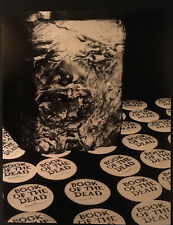 Book Of The Dead (Evil Dead) 1981 Premiere 8x10 B&W Photo of Book & Buttons
