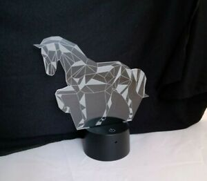 Fullosun Horse 3D LED Night Light Colour Changing Remote Control Brand New - H16