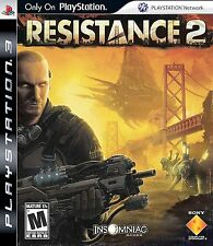 PS3 Resistance 2 Video Game First Person Shooter Online Multiplayer DISC ONLY