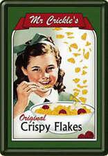 Blechpostkarte Mr. Crickles Crispy Flakes, 10 x 14,5 cm