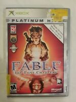 Fable The Lost Chapters Platinum Hits Original Xbox Rated M With Case Complete