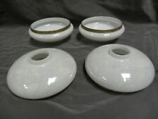 """4"" Vintage Opaline Opalescent Art Glass Lamp Light Fixture Shades (A25)"