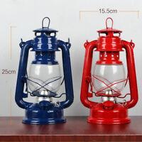 2 Pcs Kerosene Lantern Hiking Camping Metal Oil Burning Lamp Decor Gifts
