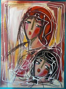 HRASARKOS Tableau Peinture Mixte sur panneau 60 cm x 80 cm Ref 292594546938