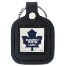 Toronto Maple Leafs Square Leather Keychain [NEW] Enamel Key Chain Ring NHL