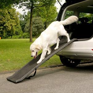PLASTIC FOLDING DOG RAMP LIGHTWEIGHT PET CAR VAN TRANSPORT TRAVEL STAIRS ACCESS
