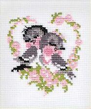 RIOLIS  524  Couple d'oiseaux  Kit  Point de Croix  compté