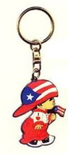 "Puerto Rico Little Boy ""Nene"" Holding Flag Key-chain"