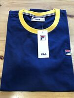 FILA® Vintage MARCONI Ringer T-Shirt/Peacoat Blue - Small  SS19 SALE