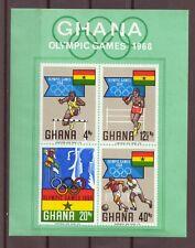 Ghana, Souvenir Sheet, Olympics Games, MNH, 1968