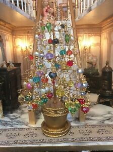dolls house handmade luxury Christmas tree decorations