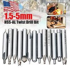13Pcs/Set 1.5-5mm HSS-AL Twist Drill Bit Lock Parts Tools For Key Cutter Machine