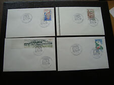 FRANCE - 4 enveloppes 1993 (cy38) french