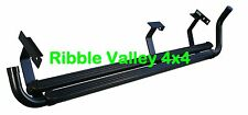 STC8015AA LAND ROVER DEFENDER COUNTY STATION WAGON 110 BLACK RUBBER SIDE STEPS