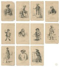 11x c1869 Ant. Prints From The Book Of Wonderful Characters | FREE Delivery UK*