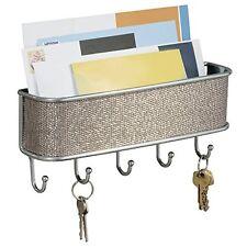 Wall Mail Letter Key Holder Hook Rack Hanger Organizer Storage in Metal